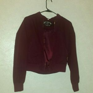 Maroon Flight style jacket (junior)